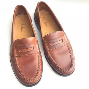 COLE HAAN MENS LOAFERS LEATHER BROWN 9M EUC